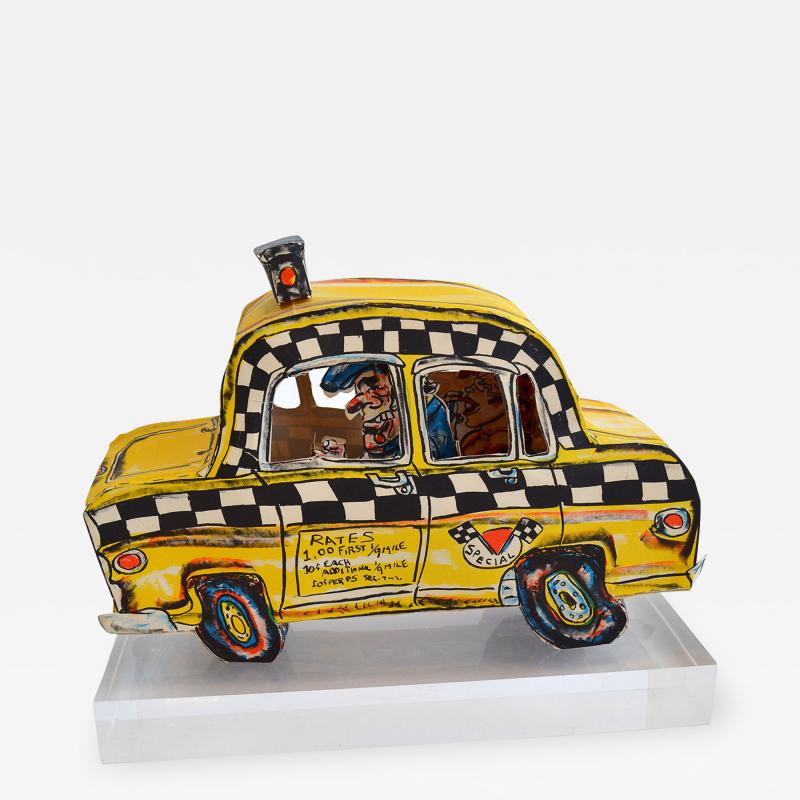 Red Grooms Red Grooms Ruckus Taxi Folded 3 D Lithographic Sculpture