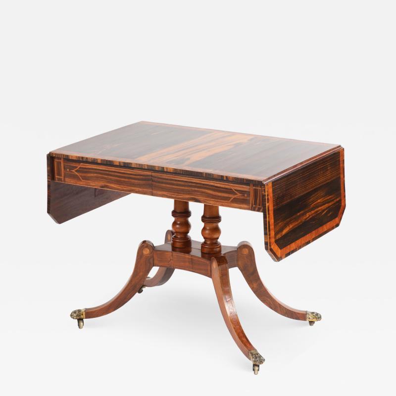 Regency Calamander and Rosewood Sofa Table c 1810 20