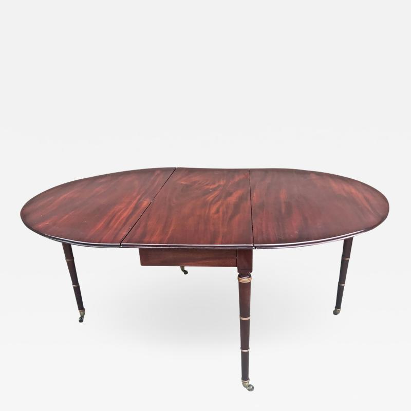 Regency Mahogany Drop Leaf Dining Table