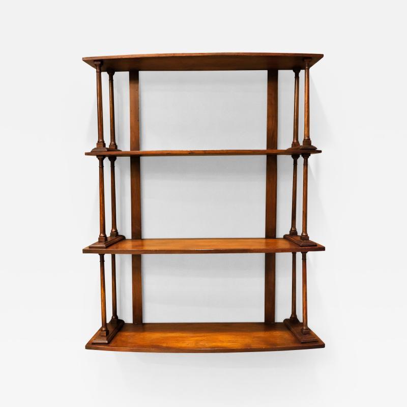 Regency Mahogany Hanging Shelves England Circa 1810