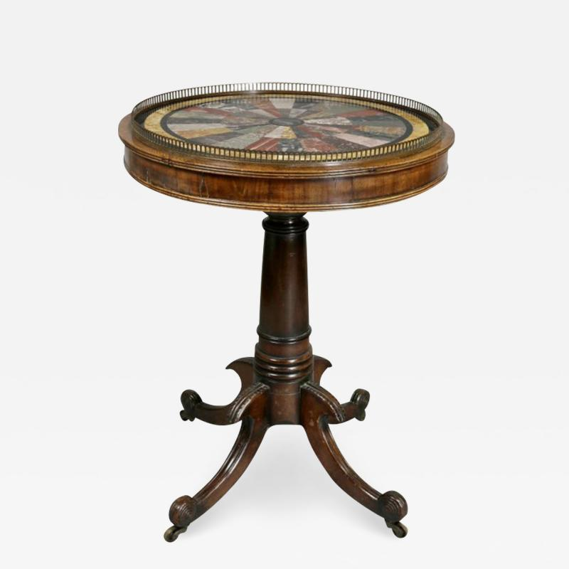 Regency Rosewood and Specimen Marble Table