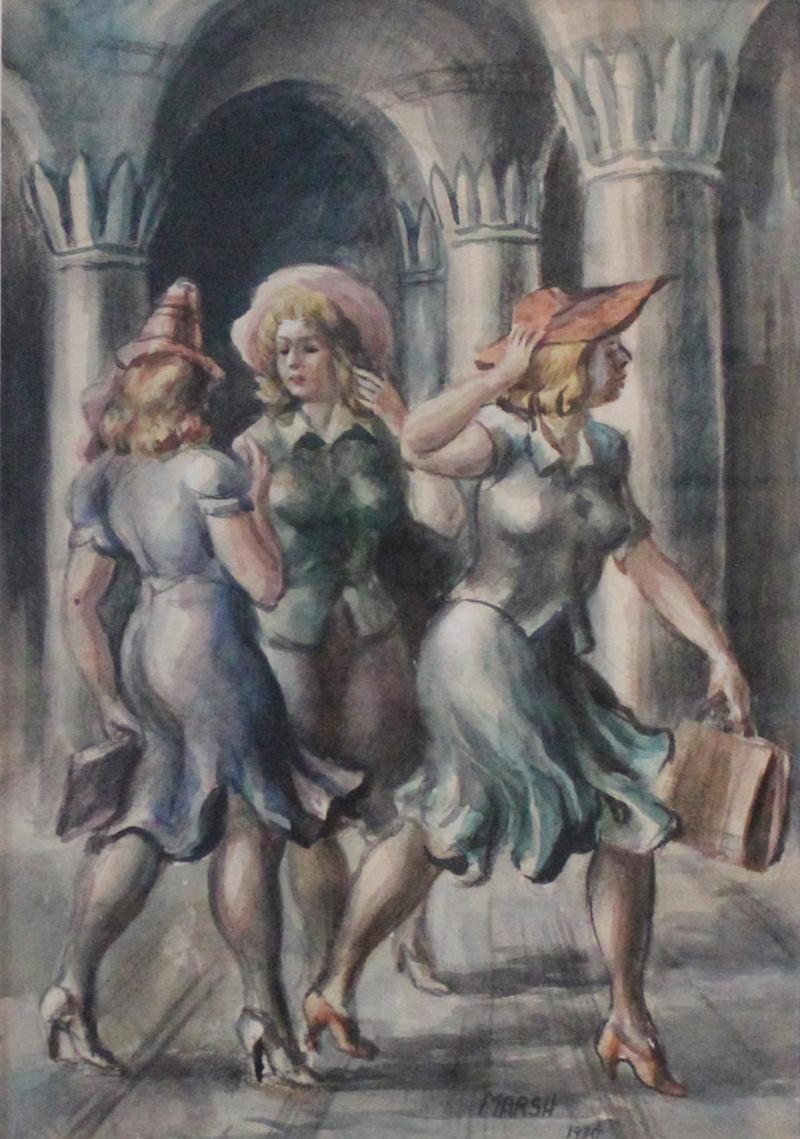 Reginald Marsh The Girls Central Park