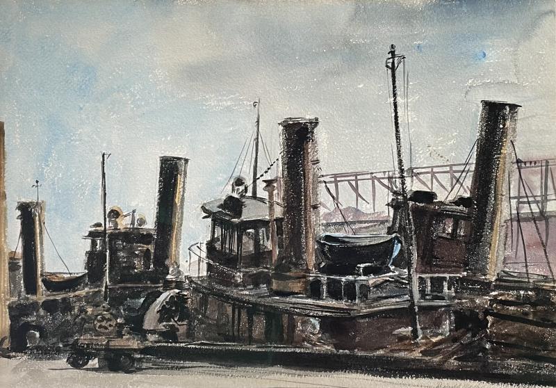 Reginald Marsh Tugboat