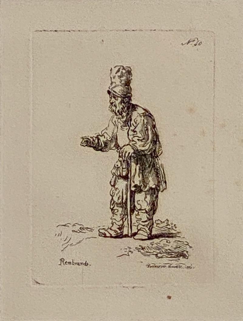Rembrandt Etching 40 by Francesco Novelli