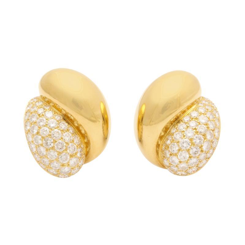 Ren Boivin Rene Boivin Diamond 18k Gold Earrings