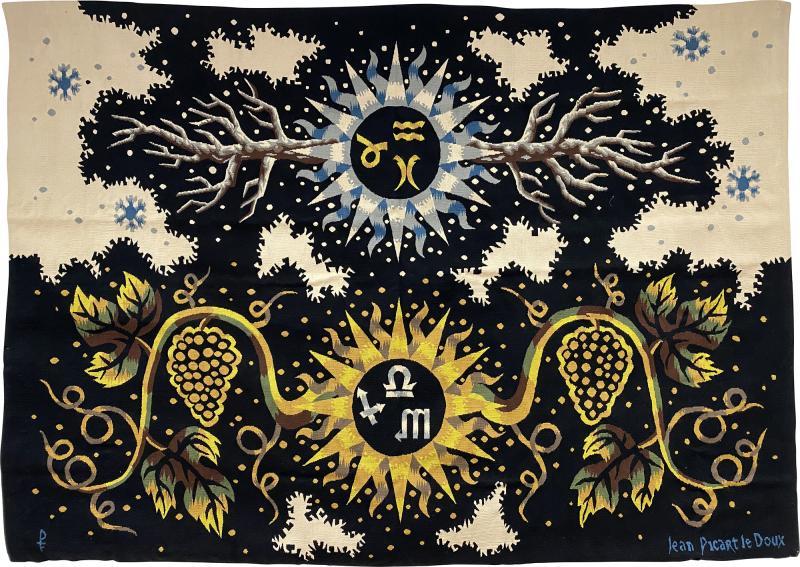 Ren Fumeron Aubusson Tapestry by Ren Fumeron Autumn Winter Woven in Pinton Workshop 1 6