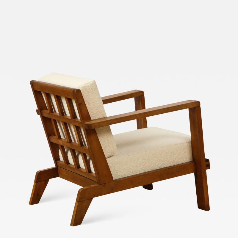 Ren Gabriel Single Lounge chair with detailed back