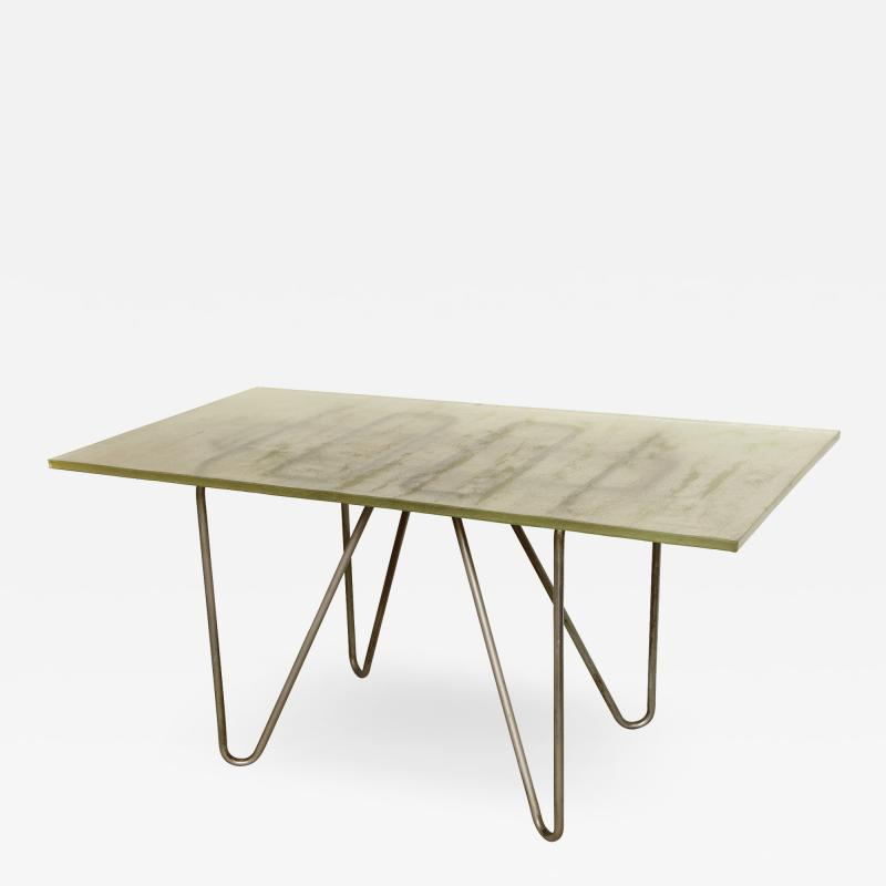 Ren Herbst Dining Table Desk in the style of Rene Herbst