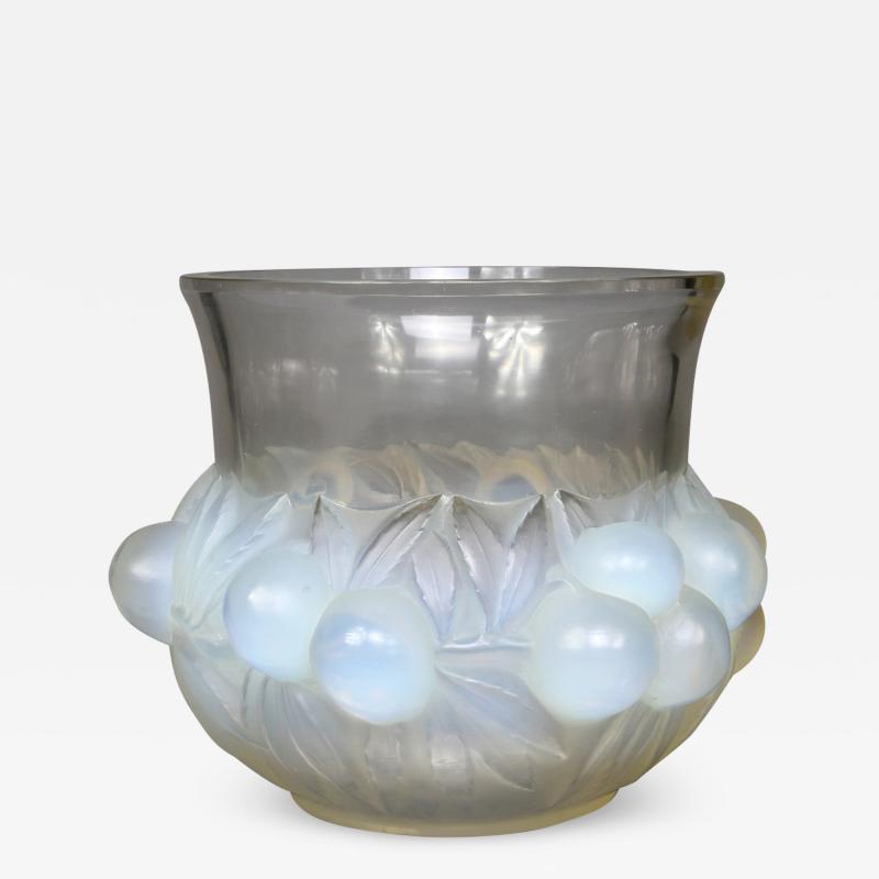 Ren Lalique Lalique Co A R Lalique Opalescent Prunes Vase Designed In 1930