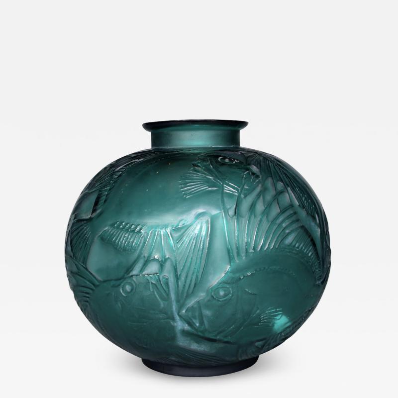 Ren Lalique Lalique Co A Tile Green R Lalique Poissons Designed In 1921