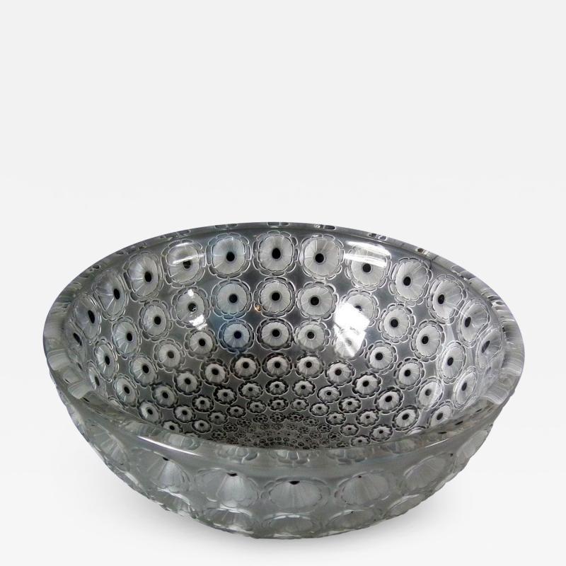 Ren Lalique Lalique Co Rene Lalique Clear Frosted Glass Nemours Bowl