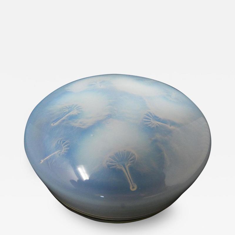 Ren Lalique Lalique Co Rene Lalique Glass Opalescent Houppes Box