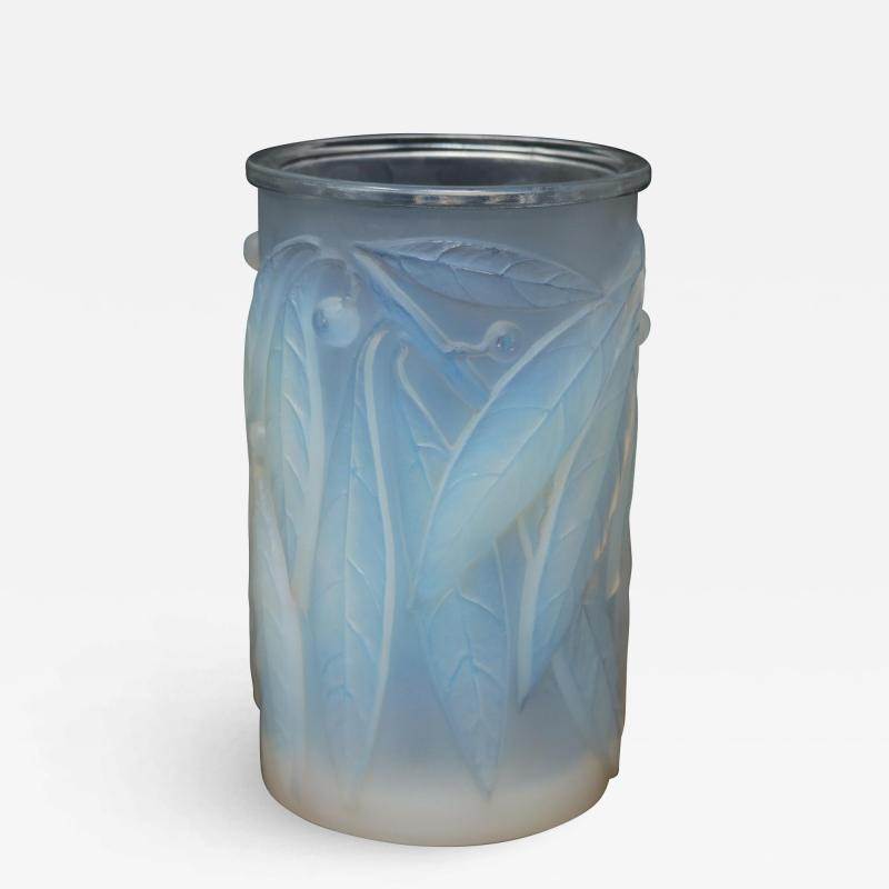 Ren Lalique Lalique Co Rene Lalique Opalescent Glass Laurier Vase