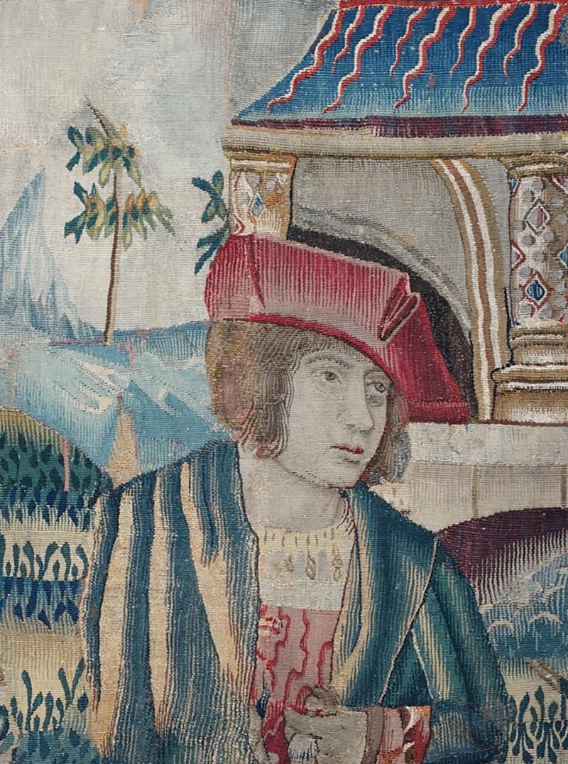 Renaissance Flemish Tapestry Fragment