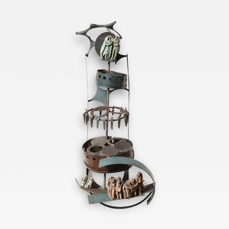 Renato Bassoli Renato Bassoli Sculpture The Wedding Made in 1960 in Italy
