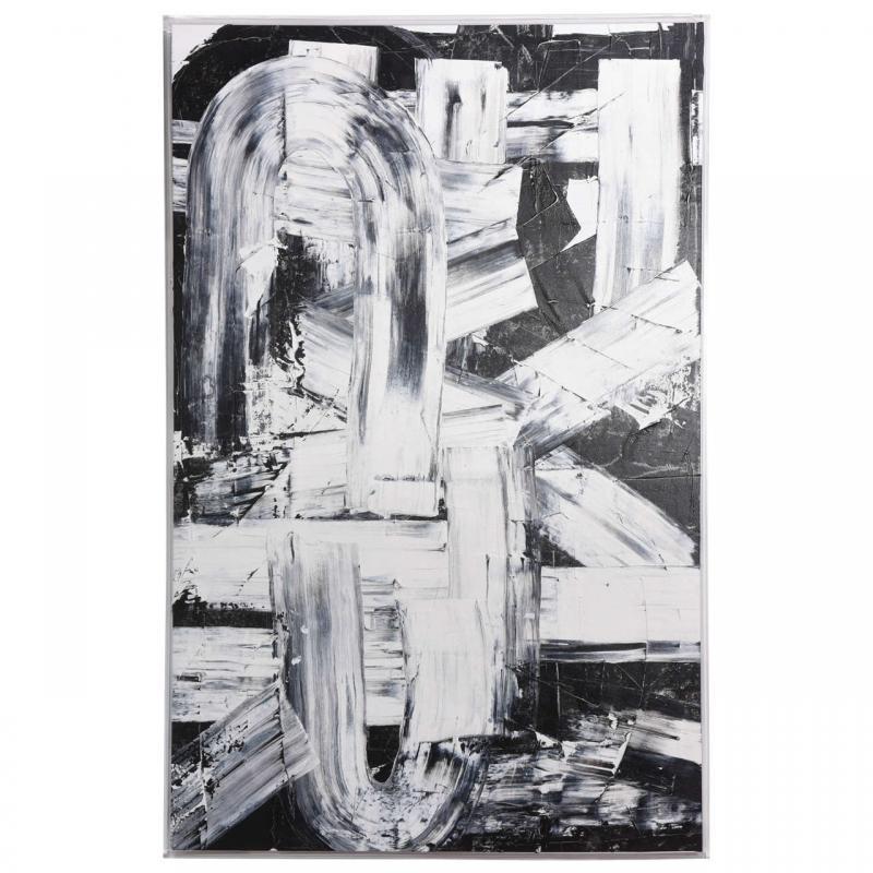 Renato Freitas Renato Freitas Original Oil on Canvas 2015 Black and White Two