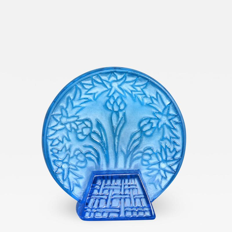 Rene Lalique A Bleu Glass Letter Seal By R Lalique Made In 1912