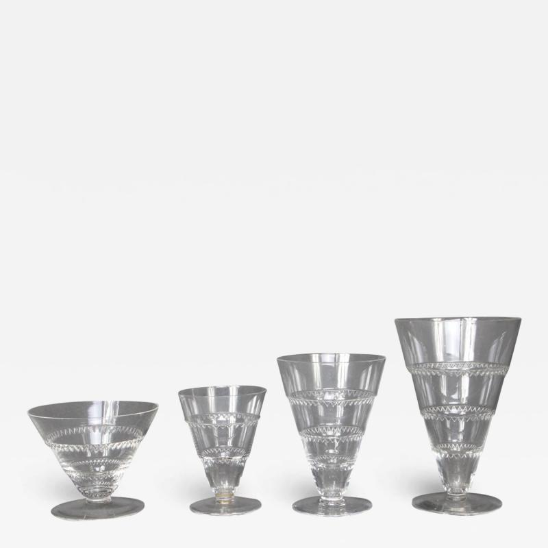 Rene Lalique As Vouvray Set Of Glasses Designed By R Lalique In 1932