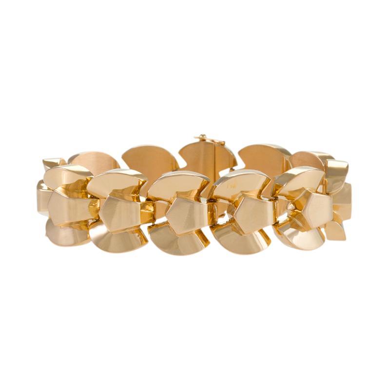 Retro Gold Link Bracelet