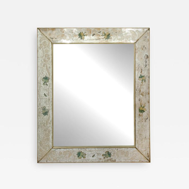 Reverse Etched and Painted Mirror