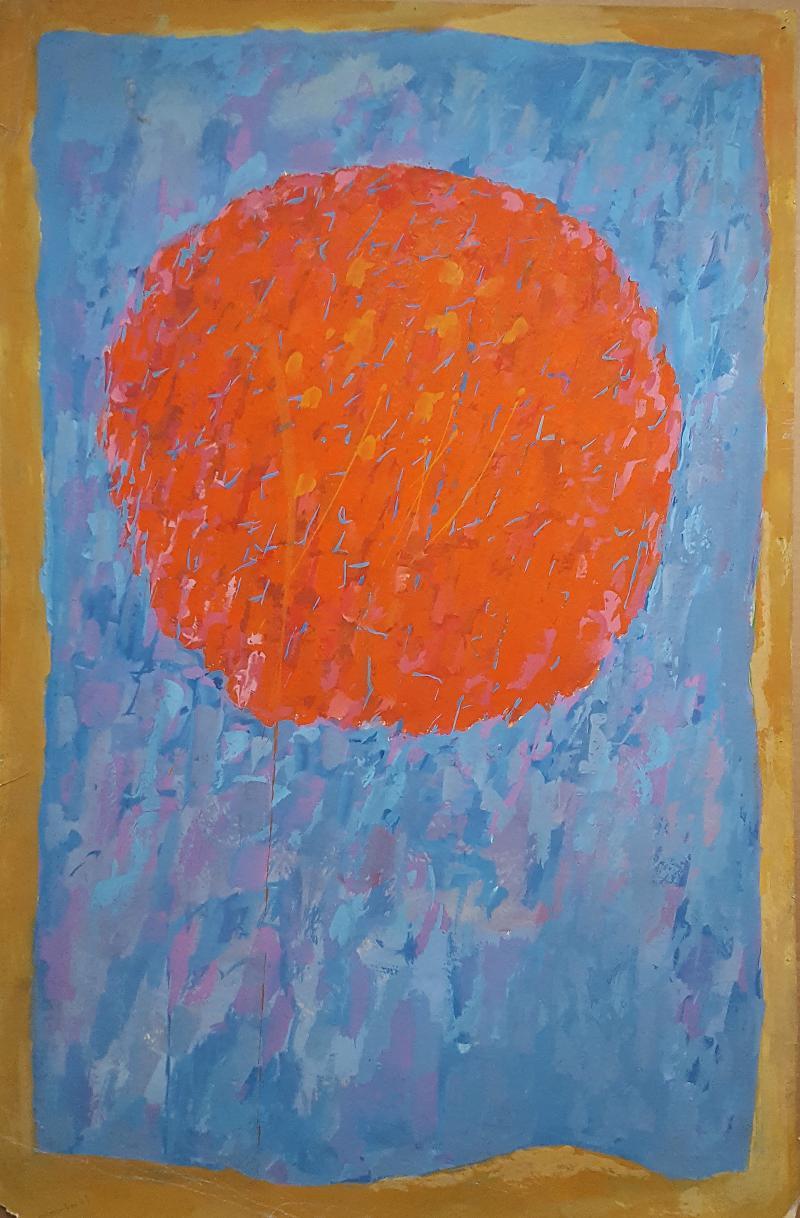 Rex J Ashlock Untitled Orange Moon