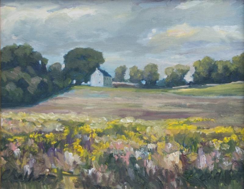 Richard Barnard Chalfant Simplicity Oil on Panel by Richard Chalfant