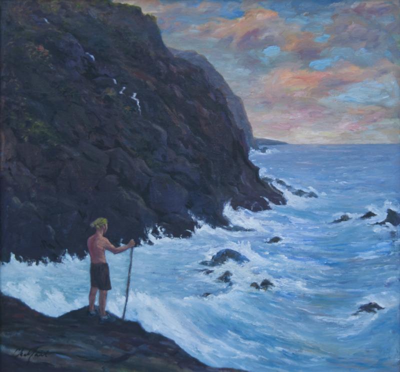 Richard Barnard Chalfant Traveller of Many Worlds Oil on Canvas by Richard Chalfant