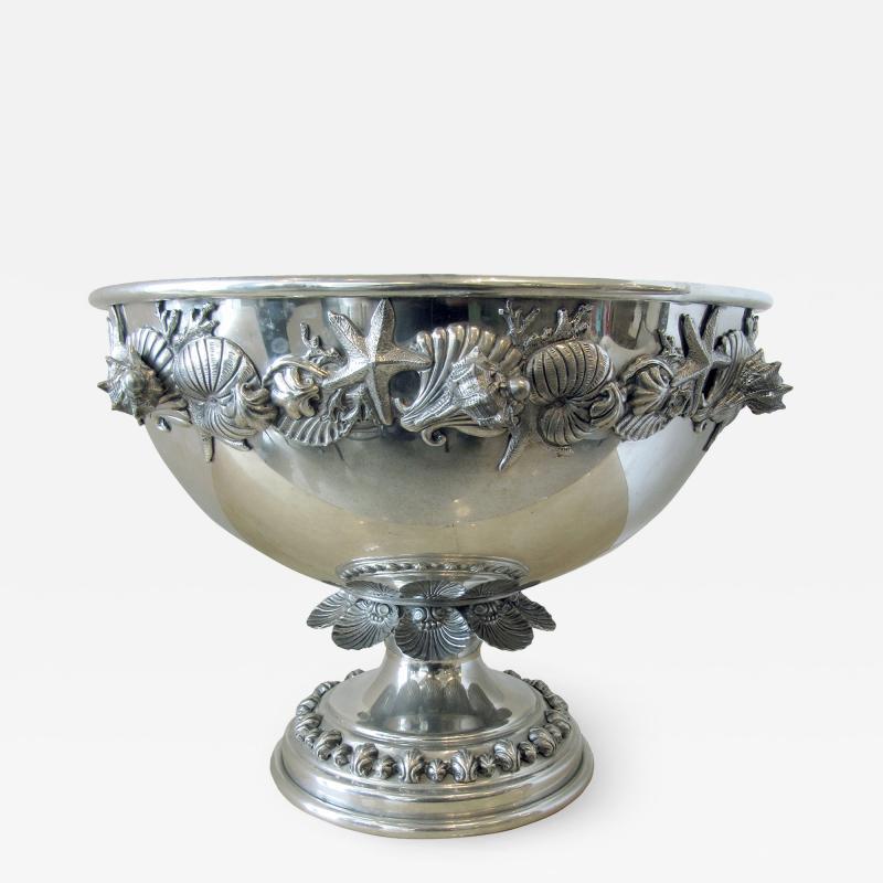 Richard Cipolla A Monumental Italian Pewter Centerpiece Punch Bowl Richard Cipolla