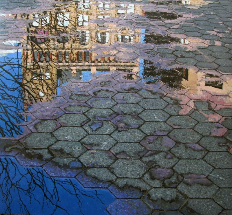 Richard Combes Union Square Reflection
