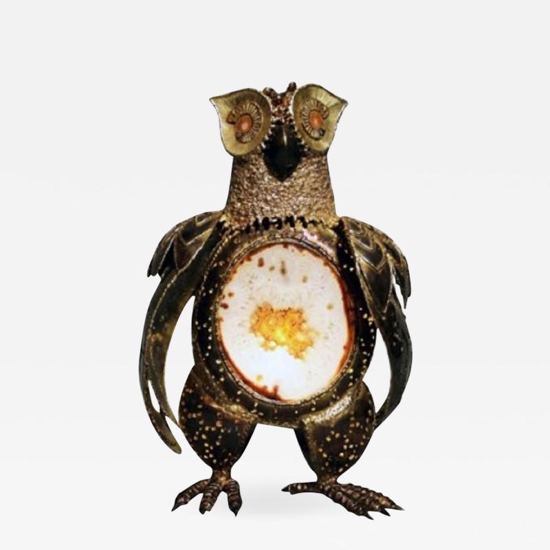 Richard Faure Luminous sculpture owl by Richard Faure