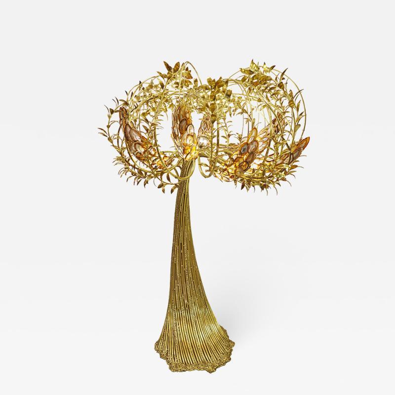Richard Faure Monumental luminous tree by Richard Faure Unique piece