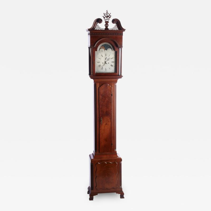 Richard Miller Spruance Family Tall Case Clock by Richard Miller Duck Creek DE