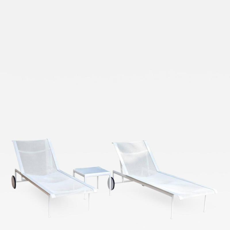 Richard Schultz Pair of Richard Schultz Chaise Longue Chairs and Table