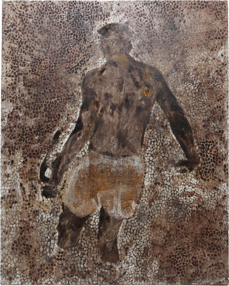Rick Moens Impressive Oversized Painting Bathing Man by R Moens