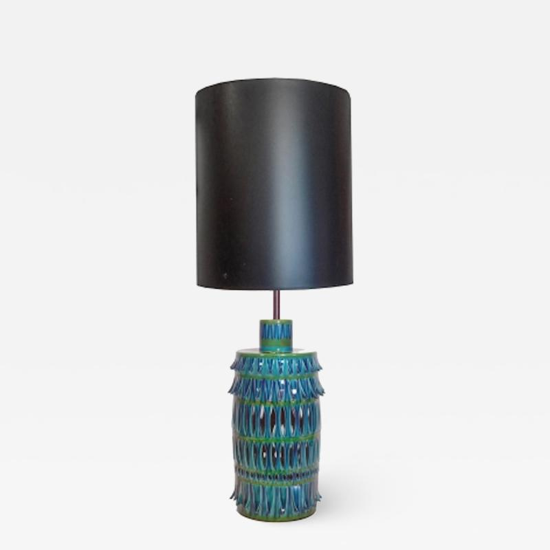 Rimini Blue Mid Century Table Lamp