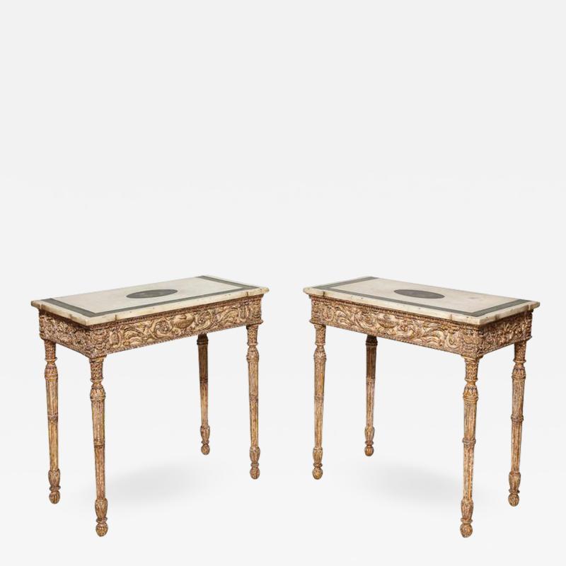 Robert Adam Fine Pair of Robert Adam Console Tables