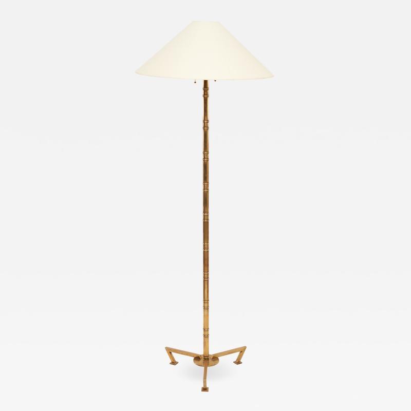 Robert Altman Bronze Bamboo Floor Lamps