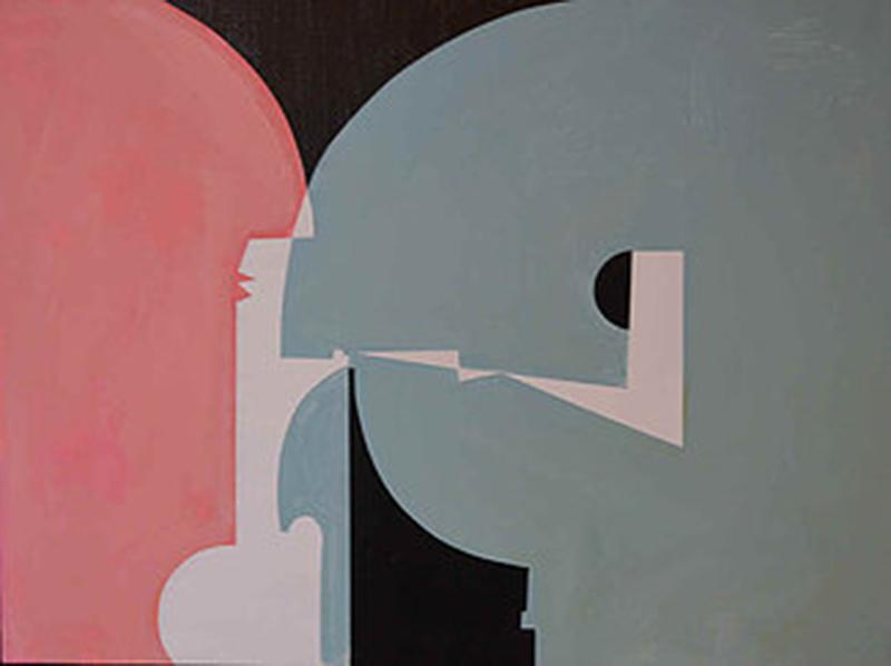 Robert Branham Abstract in Pink and Green