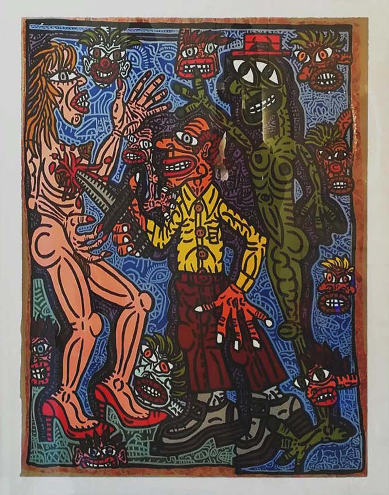 Robert COMBAS Robert Combas Original Serigraphy 28 30 1990