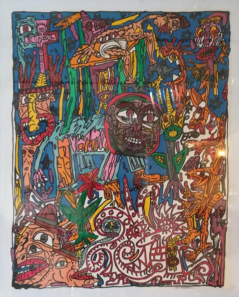Robert COMBAS Robert Combas Original Serigraphy 83 100 1992