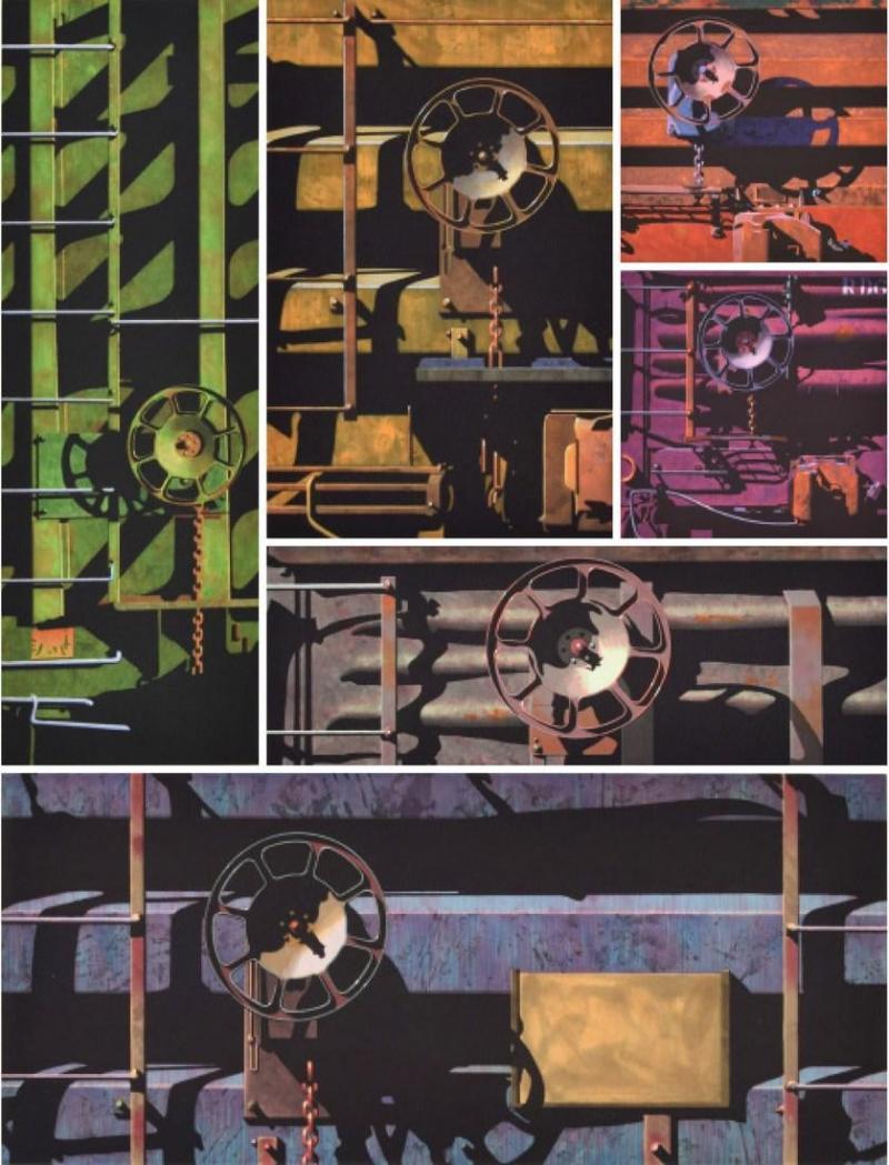 Robert Cottingham Robert Cottingham Rolling Stock Portfolio 6 Works