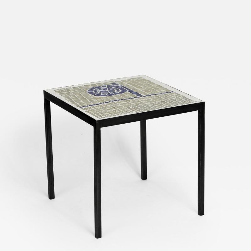 Robert Deblander Mosaic Tile Top Side Table