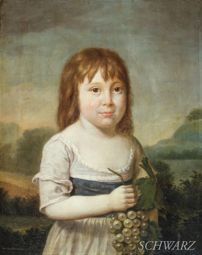 Robert Edge Pine Girl Holding Grapes