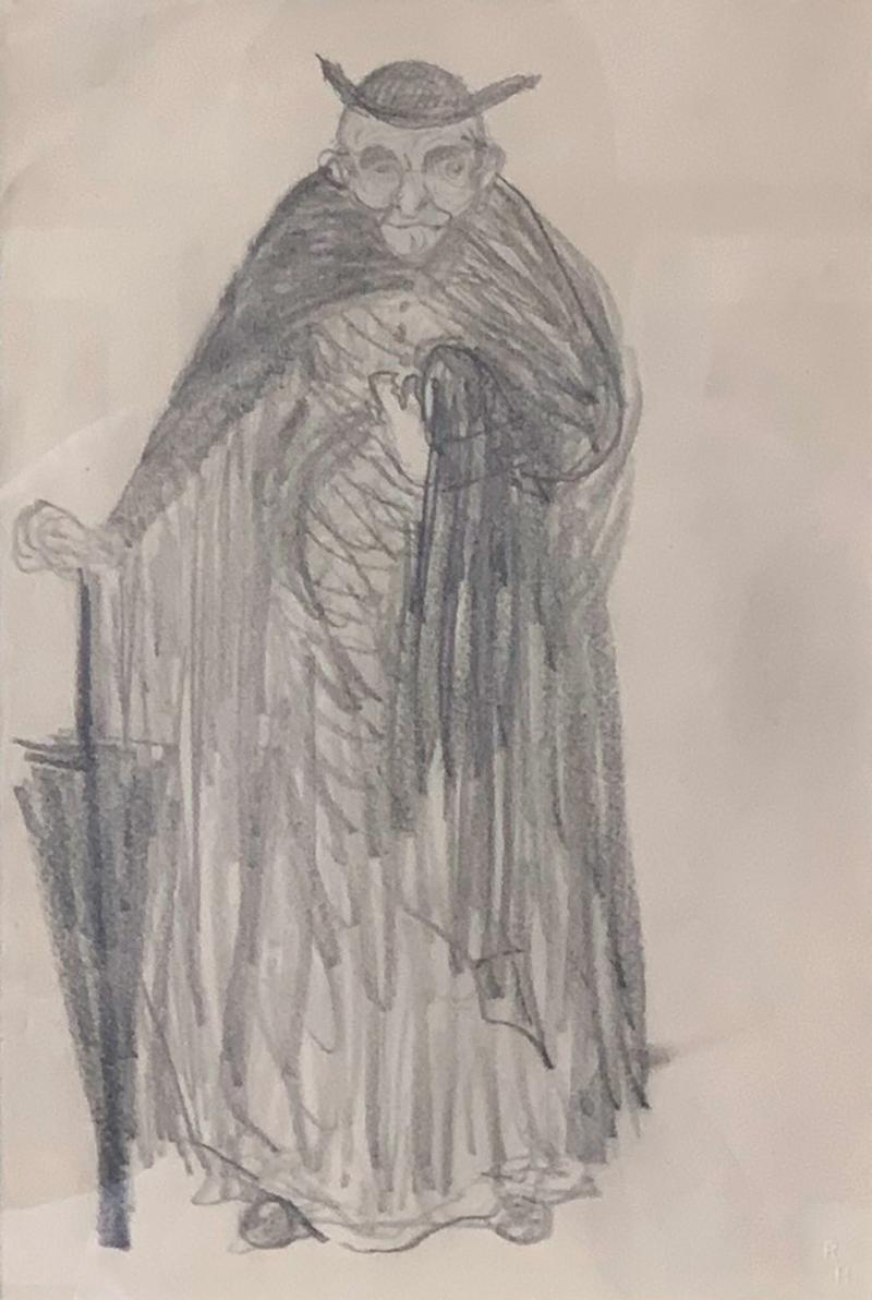 Robert Henri Framed Figurative Drawing by Robert Henri Ashcan School