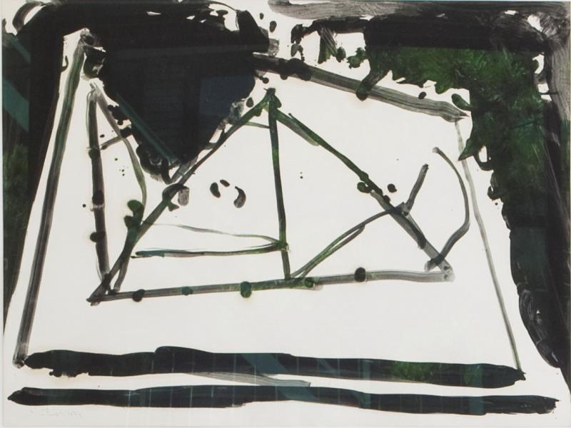 Robert Motherwell A Robert Motherwell Painting on Paper