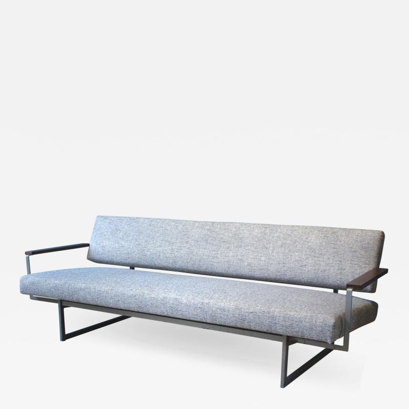 Robert Parry Reupholstered Grey Vintage Sofa or Daybed by Rob Parry for Gelderland 1950s