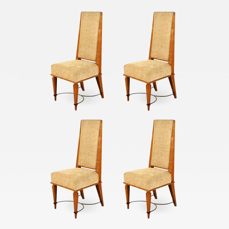 Robert Paveau Robert Paveau documented set of 4 chicest high back chairs