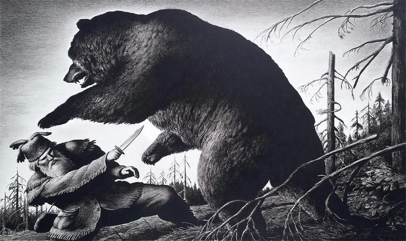 Robert Riggs Grizzly Adams Grizzly bear attacks Frontiersman