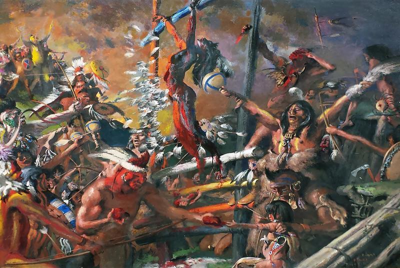 Robert Riggs Indian Sacrificial Ceremony