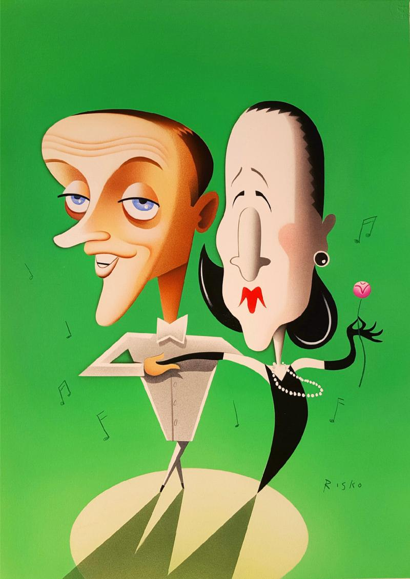 Robert Risko Fred Astaire and Diana Vreelan